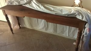 """Antique pine, long console table. 6' L. x 17.5 W. x 30"""" T for Sale in Houston, TX"""