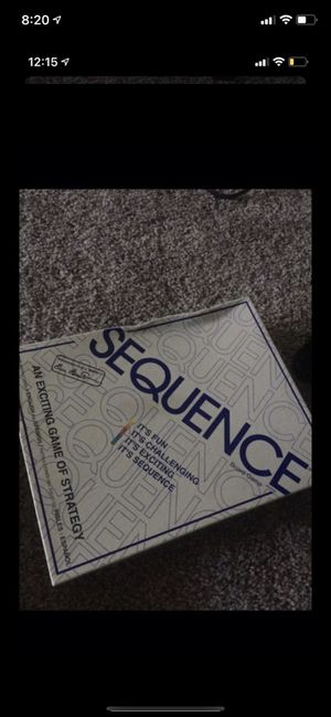 Sequence board game for Sale in Tacoma, WA