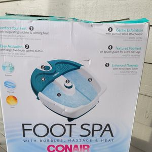 Conair Deluxe Foot Spa With Jets Bubbles Massage & Heat New In Box for Sale in Everett, WA