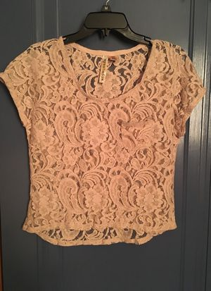 Brand New Caramel Flower Laced Shirt for Sale in Pittsburgh, PA