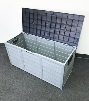 """New $45 each Plastic Storage Box 70 Gallon Outdoor Durable Plastic Shed Waterproof 44""""x19""""x21"""" for Sale in City of Industry, CA"""