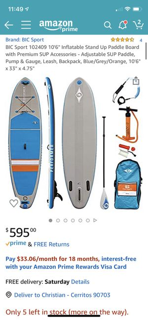 New Bic Sport stand up paddle board and accessories for Sale in Artesia, CA