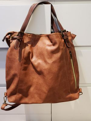 Brand new faux leather backpack or tote handbag for Sale in Reston, VA