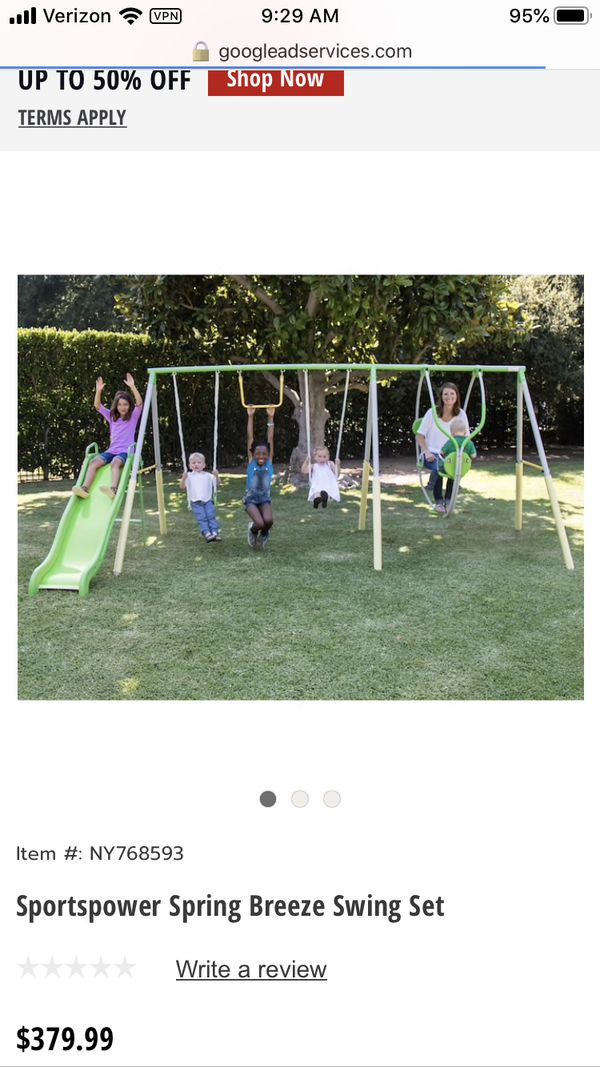 NEW Sportspower Me and my toddler Swing Set