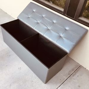 New in box $30 Each 43x15x15 inches foldable storage ottoman toys clothes storage seating black brown or grey for Sale in Los Angeles, CA
