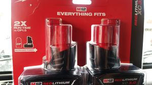 New Milwaukee m12 3.0 batteries for Sale in Lakewood, CO