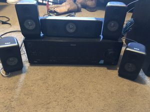 RCA Surround speakers with reciever and sub! for Sale in Watsonville, CA