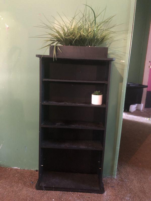 Small black shelf