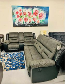 🔥Best Price Brand🆕️ Earhart Slate Reclining Living Room Set for Sale in Alexandria,  VA