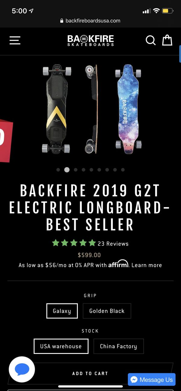 Backfire G2T electric skate board