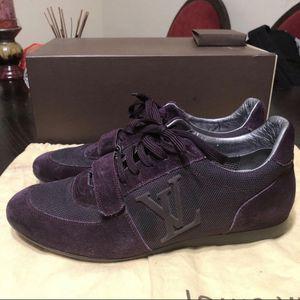 Men's Louis Vuitton Purple Suede Sneakers US 8.5 for Sale in Sunny Isles Beach, FL