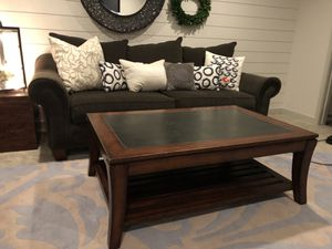 Beautiful solid wood matching Coffee table and couch table for Sale in North Salt Lake, UT