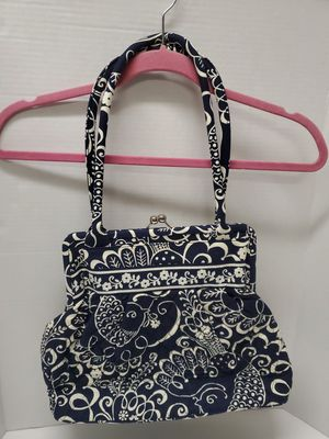 Vera Bradley Navy Twirly Birds Clasp Tote Bag for Sale in Haledon, NJ