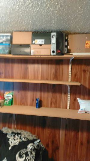 Shelving 8 ft with 3 shelves all metal hareware $20 for Sale in Slidell, LA