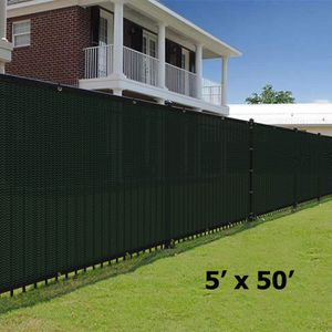 NEW 5'x50' Privacy Fence Wind Screen - DARK GREEN for Sale in Ontario, CA