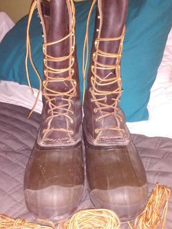 Lacrosse Brown Leather And rubber Lace Up Boots. Insulated Removable Pieces. Size 12 for Sale in Columbia,  TN