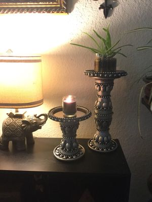 Hand Made Candle Holder or Small Plant Stands Pair for Sale in Homestead, FL