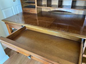 Beautiful wood desk and cabinet for Sale in Camas, WA