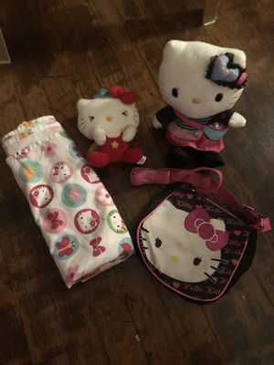 HELLO KITTY SET W/ TWIN SHEET for Sale in St. Louis, MO
