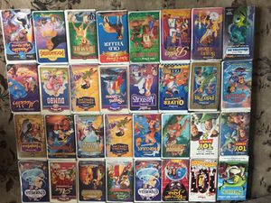 32 original Disney VHS movies all with original cases for Sale in Silver Spring, MD