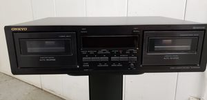 Onkyo Stereo Dual Cassette Tape Deck Player TA-RW244 Black for Sale in Irvine, CA