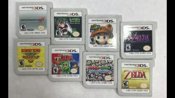 8x Nintendo 3ds games lot All games work, no boxes Ships for $3