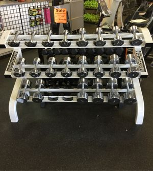Dumbbell set with rack for Sale in Phoenix, AZ