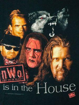 WCW Wrestling NWO Wolfpac Shirt L Sting Kevin Nash Lex Luger for Sale for sale  Lafayette, LA