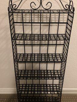 Black Metal Storage Shelf for Sale in Lafayette,  CO