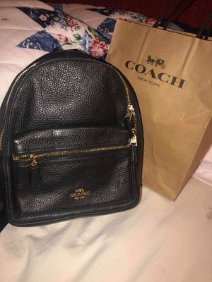 Brand new black leather Coach mini backpack with tags for Sale in Chula Vista, CA