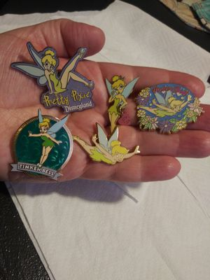 Disney Tinker Bell pins (set of 5) for Sale in Wilmington, CA