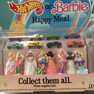 MacDonald's Happy Meals Hot Wheels/Barbie Store Display for Sale in Boca Raton, FL