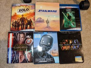 Star Wars Blu-ray / 4k movies for sale for Sale in San Jose, CA