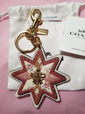 Coach Mixed Patchwork Star Keychain for Sale in Mechanicsburg, PA