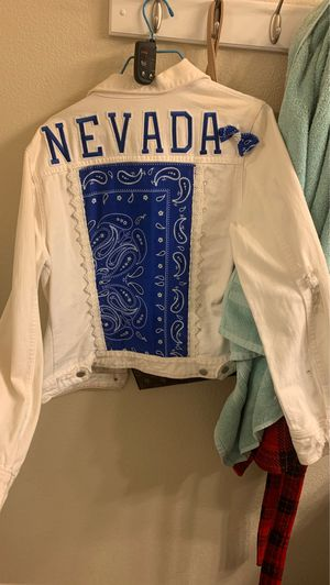 Custom Wolfpack white jean jacket (can customize others too) for Sale in Reno, NV