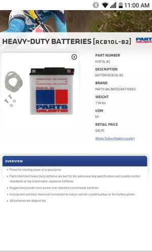Battery 10L-B2 for Sale in Chula Vista, CA
