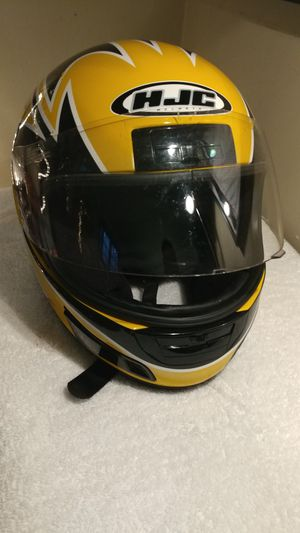 HJC helmet. Yellow and black .DOT Licensed for Sale in Boston, MA