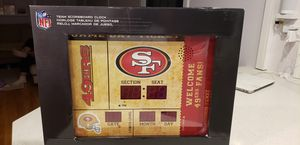 San Francisco 49ers Scoreboard Clock (Bluetooth) for Sale in Seattle, WA