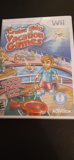 CRUISE SHIP VACATION Games (Nintendo Wii + Wii U) NEW! for Sale in Lewisville,  TX