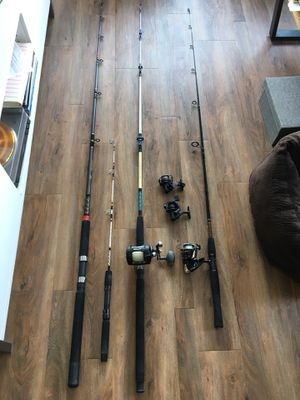 Fishing poles and reels for Sale in Seattle, WA