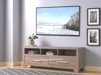 NEW IN THE BOX. THREE SHELVES AND TWO DRAWERS TV STAND, DARK TAUPE.SKU#TC192508TV for Sale in Huntington Beach,  CA