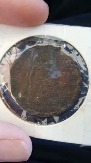 1872 penny victoria d.c. for Sale in US