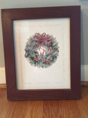 Framed Print- cranberry & sage wreath for Sale in McLean, VA