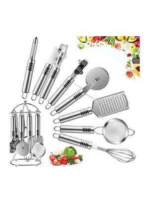Kitchen Utensil Set - 7 - Stainless Steel Cooking Utensils Set Include Grater, Whisk, Sharpener, Peeler, Cutter, Opener, strainer for Sale in Falls Church, VA