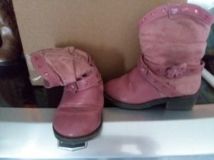 Girls pink cowboy boots for Sale in Black River, NY