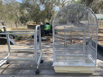 Large Detachable Bird Cage With Wheels for Sale in Howey-in-the-Hills,  FL