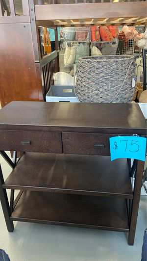 Brown mini desk / hall way table for Sale in Martinsburg, WV