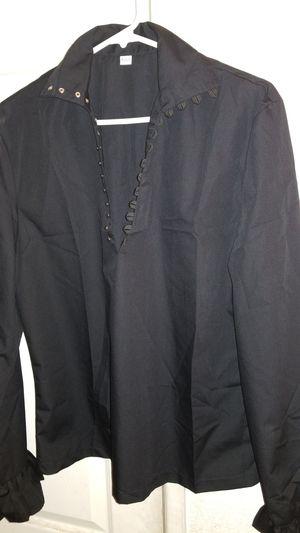 Small size pirate black dress shirt for Sale in Rialto, CA