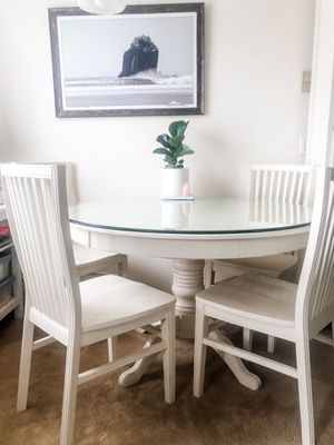 Pier 1 White Ronan Dining Table for Sale in Encinitas, CA