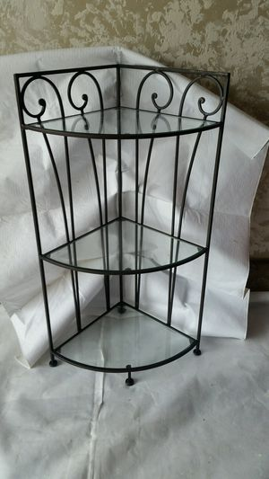 Glass and wrought iron corner shelf for Sale in San Lorenzo, CA